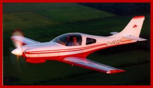 Lancair airplane -- click to enlarge